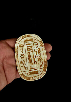 Egyptian hieroglyphic Antique Ancient Rare Bc Statue Stone tablet Relief Plaque