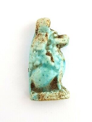 Anubis Amulet Ancient Faience Egypt Egyptian Rare Necklace God Antique Nile Bead