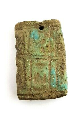 Amulet Hieroglyphic Egyptian Ancient Faience Rare Antique Egypt Antiques Stone