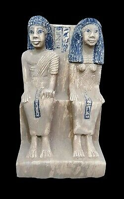 Egyptian King & queen Statue Figurine Egypt Ancient Sculpture Figure hieroglyph