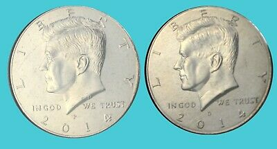2012 P/&D MINTS KENNEDY HALF DOLLARS BRILLIANT UNCIRCULATED CONDITION FROM MINT