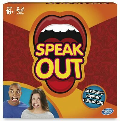 Brand New Genuine Original Hasbro Speak Out Game - Board Game With Mouthpiece