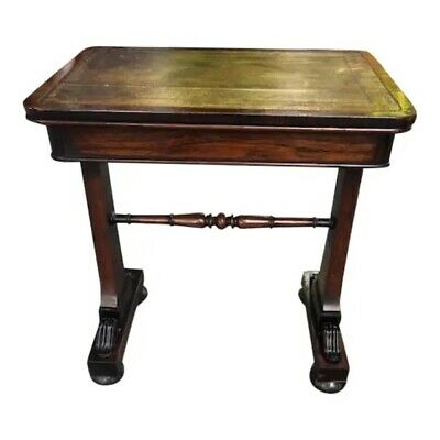 Antique English Regency Ladies Small writing Desk Leather Top
