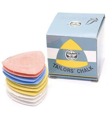 Box of White Tailor/'s Chalk Triangles Supercrafts UK