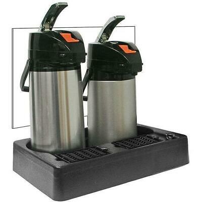 Universal PAPR2 2 Pot Coffee Station Display with 2.0 Liter Airpots Beverage Cen