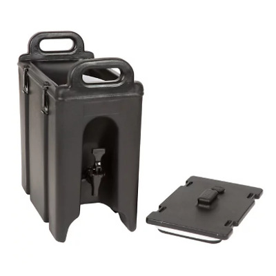 Cambro Camtainer 2.5 Gallon Black Insulated Beverage Dispenser 250LCD