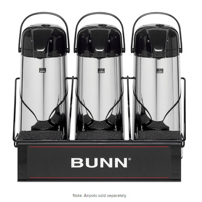 Bunn APR3 Three Section Airpot Serving Rack Display Server 25371.0003
