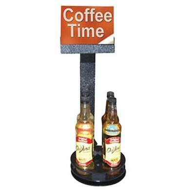 Commercial Swivel Spinning Coffee Flavor Syrup Rack Organizer 4 Bottles SSR9