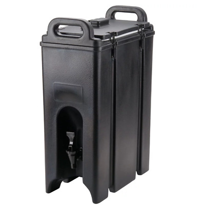 Cambro Camtainer 4.75 Gallon Black Insulated Beverage Dispenser 500LCD