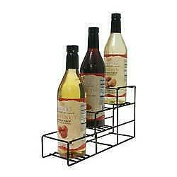 Commercial SR3 Wire Coffee Flavor Syrup Rack Display 3 Bottles