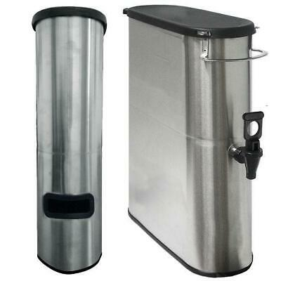 3.5 Gallon Narrow Iced Tea Dispenser Stainless Urn Server with Lid