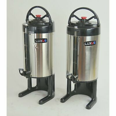 Fetco LUXUS LD-15 1.5 Gal. Thermal Coffee Dispenser Server D01000000 SET OF 2