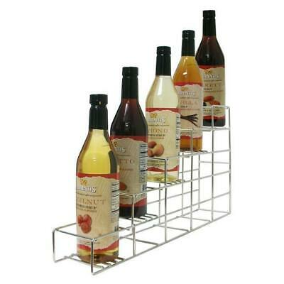 Commercial SR5 Wire Coffee Flavor Syrup Rack Display 5 Bottles