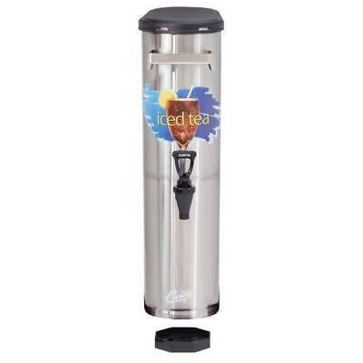 Curtis TCN 3.5 Gallon Stainless Steel Narrow Iced Tea Dispenser
