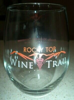 Rocky Top Wine Trail Glass