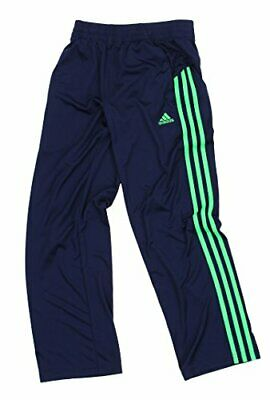 Adidas Youth Boys 3-Stripe Performance Athletic Track Pants, Navy / Green