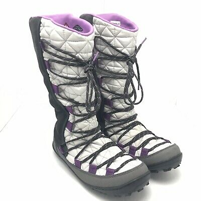 Girls Columbia Youth Loveland Omni-Heat-K Snow Winter Boors Size Big Kid 5 Grey