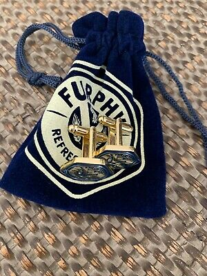 New furphy beer cufflinks collectables beer merchandise blue and gold