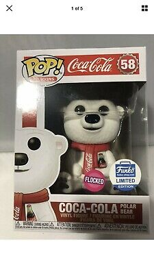 Funko Pop! Ad Icons Coca Cola Limited Edition - FLOCKED Coca-Cola Polar Bear #58