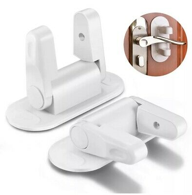 2pack Door Lever Lock Safety Child Proof Doors Adhesive Baby Safety Lock