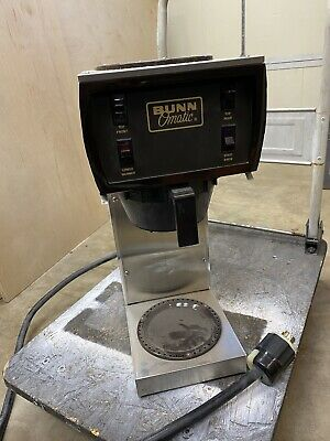 Bunn O Matic Commercial Stainless Steel Coffee Maker Brewer 3 Warmers