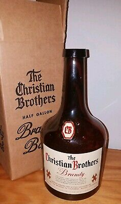 Vintage Christian Brothers Half Gallon Brandy Bank W/ Original Box