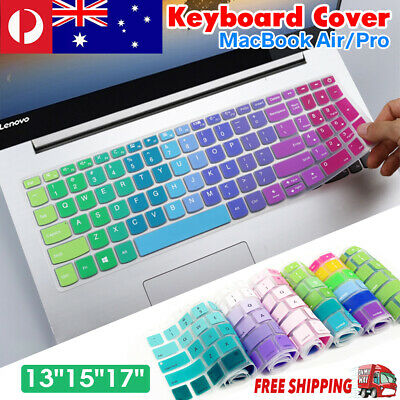 """Rainbow Keyboard Silicone Cover Protector For Apple Macbook Air Pro 13""""15""""17"""""""