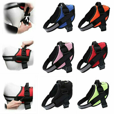 Strong Adjustable & Reflective Dog Harness Pet Puppy Power Harnesses for XS-XXL