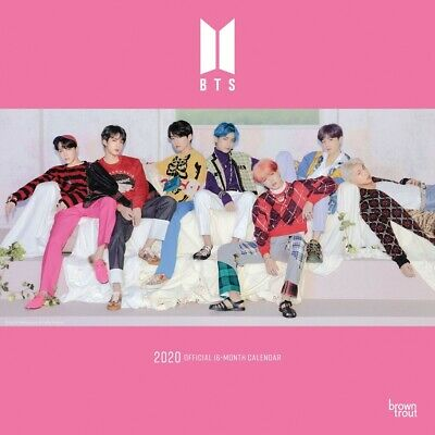 BTS 2020 Official 16-Month Square Wall Calendar by Browntrout