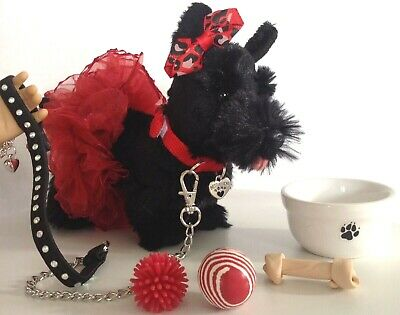 """Scotty Dog for American Girl Doll 18"""" Accessories Fit Pet Leash & Collar SET"""