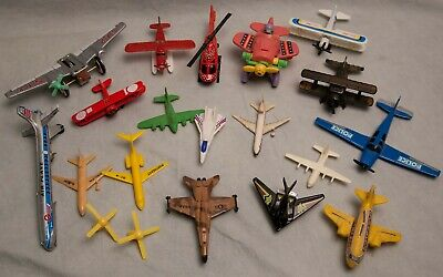 Vintage Airplane Lot Delta Boeing Lockheed Northeast Plastic Metal Rubber Copter