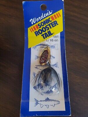 """1//8 oz Wordens 182-YLMY Sonic Rooster Tail In-Line Spinner 2 3//8/"""""""
