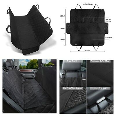 Pets Car Seat Black Cover Full Protection Waterproof Machine Wash Clean Non-Slip
