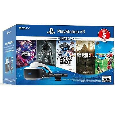 New Sony PlayStation VR 2020 Mega Pack 5 Five Game Bundle Virtual Reality PS PS4