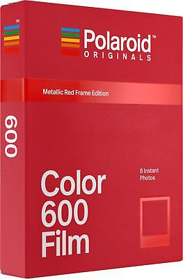Polaroid - Color 600 Film - Metallic Red Frame