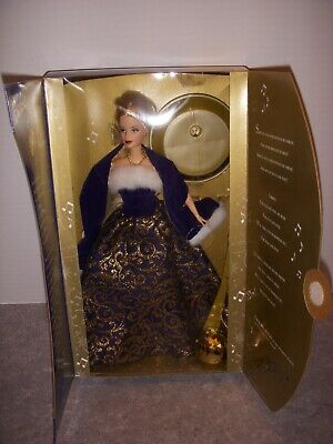 Ring In The New Year Blonde Barbie Doll, Mattel #52742, 2001, With Box!
