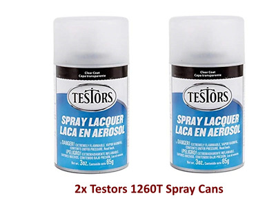 2x Cans Of Testors Dullcote Spray (85gm)