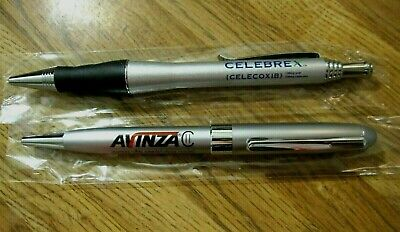 Lot 2 Rare Heavy Metal Drug Rep Pen, Celebrex, Pharma, Promo, Pharmaceutical