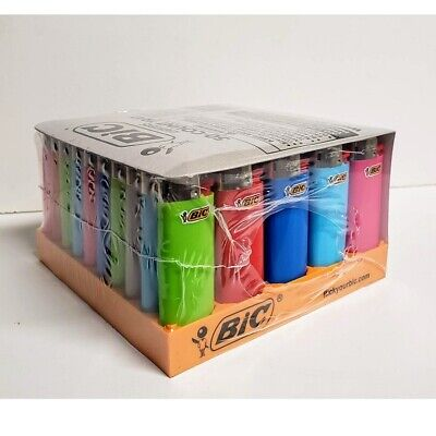 Bic Mini Classic Lighter, Assorted Colors, 50-Count Tray-Free Shipping