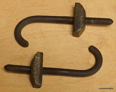 Good Substantial Pair of  Longcase Clock Seatboard Hooks - Probably 18c