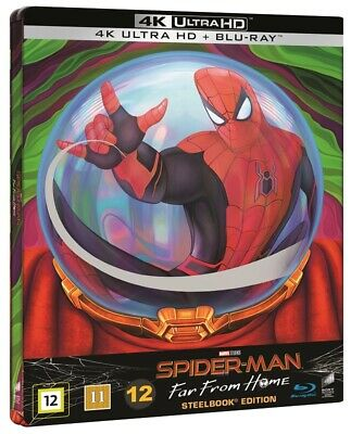 Spider Man Far from Home Limited Edition Steelbook 4K UHD + Blu Ray