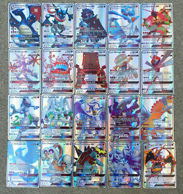100pcs 38TAG TEAM+62GX Ultra Beast TCG RARE Pokemon Cards kids Gifts Collection