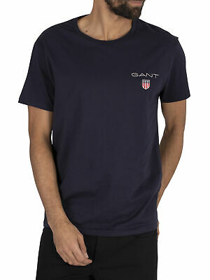 Gant Men's Medium Shield T-Shirt, Blue