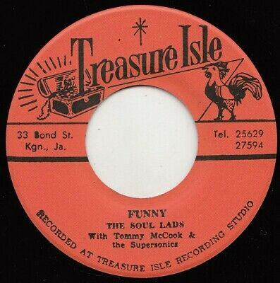 ** THE SOUL LADS aka THE CLARENDONIANS FUNNY  TREASURE ISLE ROCKSTEADY TWIN SPIN