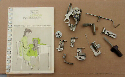Vtg Sears Kenmore Instruction MANUAL & Greist Sewing Machine PARTS w Feet + MORE