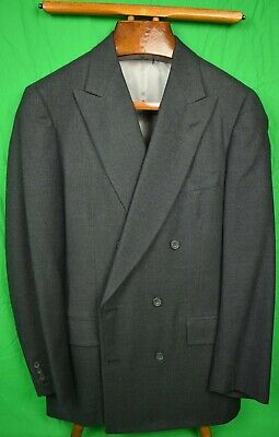Paul Stuart Char Grey Flannel DB Suit Sz: 40L