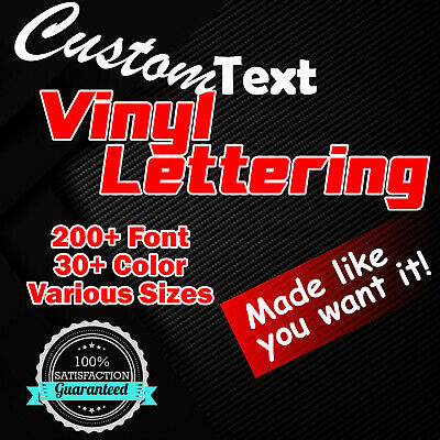Custom Text Vinyl Lettering Sticker Decal Personalized Window Wall Business Car