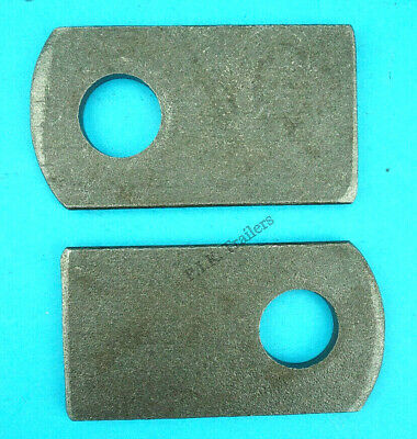 2 x Weld-on Eye Plates for M12 Antiluce Drop Lock Catch Side Tail Gate Fastener