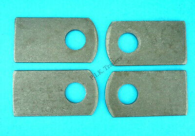 4 x Weld-on Eye Plates for M12 Antiluce Drop Lock Catch Side Tail Gate Fastener