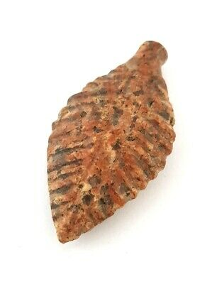 Faience Antique Egyptian Antiquities Amulet Unique leaf Figurine Granite